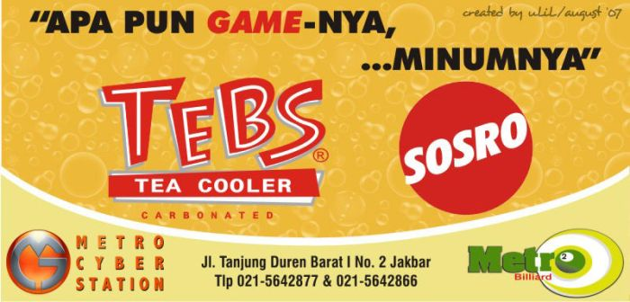 Sticker Tebs Tea Cooler by xmasada