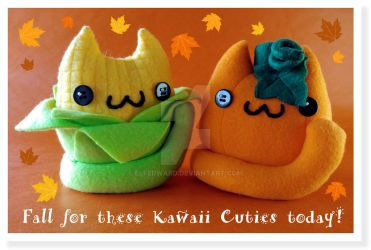 Fall for these Kawaii Cuties today! by Elfedward