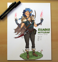 Ramona Nettleleaf, Wood Elf Druid by AndroidSkeleton
