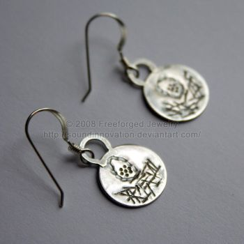 Nesting - Earrings - Oxidized by soundinnovation