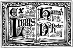 Open Book Gothic bookplate