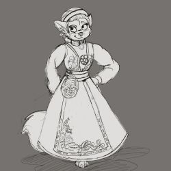 Mistel in Bunad - sketch by rodrev
