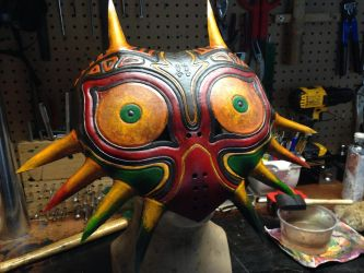 Leather Majora's Mask by Skinz-N-Hydez