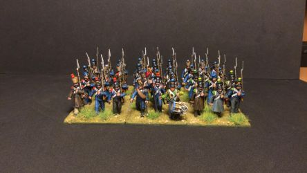 Napoleonic French Light Infantry by fiend-upon-my-back