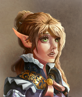 Elf Portrait by Chacobo