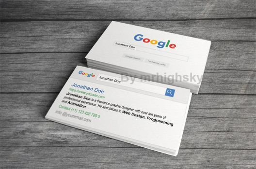 Google search style business card by MrHighsky
