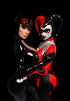 Catwoman x Harley Quinn (WIP) by prizm1616