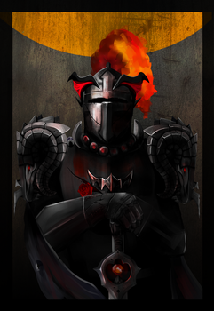 tarot card: brave knight by WhiteAlligator
