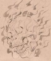 Fire Skull by DESEO-ONE