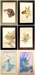 Watercolor Cards by CliffeArts
