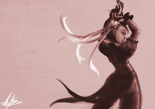 Draw Off no. 26 Chun Li by Angela-Song-Art
