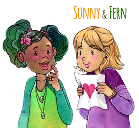 Sunny and Fern by glassie