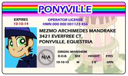 Mezmo's License by HewyToonmore