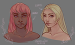 .:Sarah and Cerys:. by Skellioo