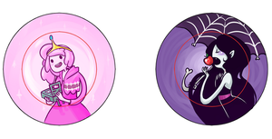 Bubblegum and Marceline Pins by IdentityPolution