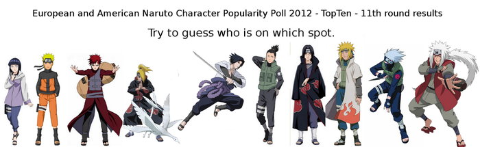 Naruto Poll - eleventh round results by NarutoPoll