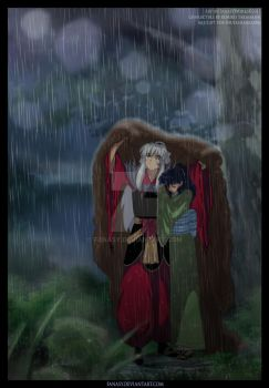 Sheltering her from the Rain by FanasY
