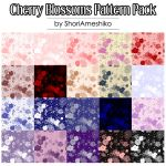 Cherry Blossoms Pattern Pack by SewDesuNe