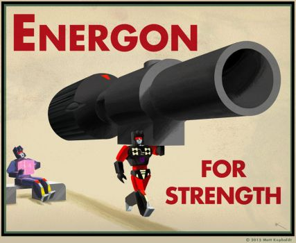 Energon for strength by MattDrawsRobots