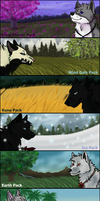 Wolf Mountain Pack Banners '12 by littlezombiesol