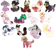 Tons of chibis [commissions] by popstar0