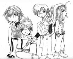 The Saiyuki Boys by animegirlp