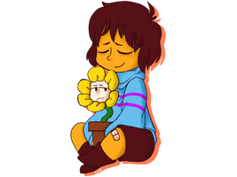 A HUMAN AND THEIR FLOWER || Undertale by Frittercrittern