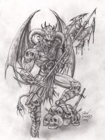 Demon warrior by arcaneserpent
