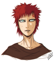 Gaara Final_Sketch7511287 [22.11.14] by Gubnub