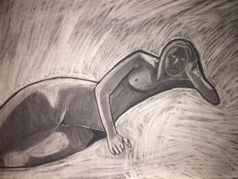 Woman in Charcoal by ManiacalToaster