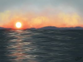 Sunset Landscape by ElyGraphic