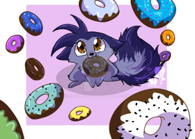 JB and Donuts by JB-Pawstep