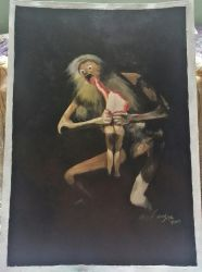 Saturn Devouring His Son by lidianne
