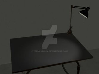 my desk by truncheonm
