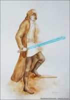 Jedi knight in ocher by Komar4