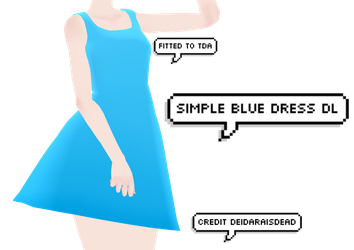 [MMD] Simple Blue Dress DL by DeidaraIsDead