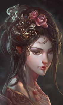 Chinese ancient beauty by XiaoBotong