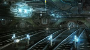 space train station concept by kerko