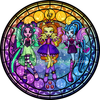 Stained Glass: Dazzlings by Akili-Amethyst