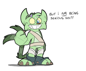 Sparks being serious by Scruffster