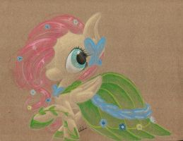 Favorite Pony Outfits: Fluttershy's Gala Gown by getchanoodlewet