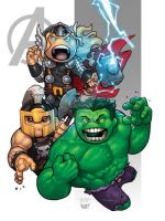 Powerful Avengers by MARR-PHEOS