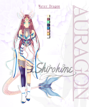 [CLOSED] Auragon #1 // Water Dragon by xShirohime