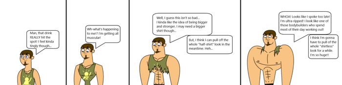 Total Drama Muscle Growth OC Eric (Remake) by Apollotalon