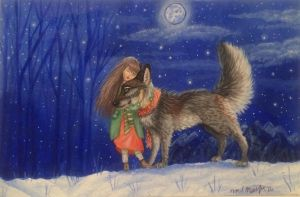 Girl and wolf Pt. 2 by noelscreations