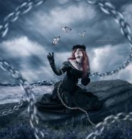 Unchains Girl (3 Butterfly Beisde Me) by IsalRahman