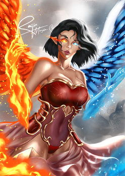 Angel Of Ice And Fire by UzumakiAry