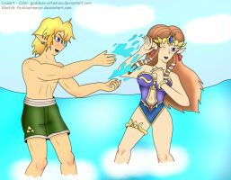 ZeLink Summer Splash by Goddess-Artemiss