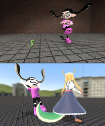 GMOD Splatoon - Courage the Cowardly Inkling by thebestmlTBM