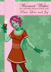 Warmest Wishes Holiday Card by Lanisatu